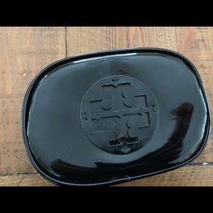 Tory Burch patent makeup bag